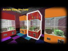 Minecraft – How to make an Arcade Claw Machine – Food 4 Health Minecraft Create, Minecraft Shops, Cute Minecraft Houses, Minecraft Plans, Minecraft Room, Minecraft City, Amazing Minecraft, Minecraft House Designs, Minecraft Construction