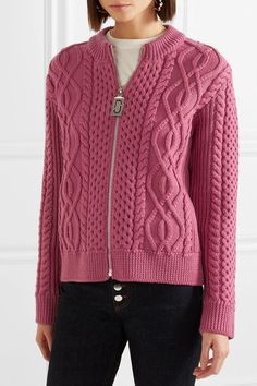 Marc Jacobs | Cable-knit  merino wool cardigan | NET-A-PORTER.COM