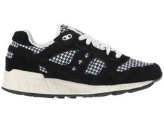 32f26b0eeb56af Saucony Originals Shadow 5000 HT Houndstooth Women s Classic Shoes  Black White Schwarze Schuhe