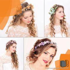 Flower Diadem / Diadema de Flores  . Lo que pudimos observar es que la corona de flores es un must en los festivales, donde las chicas adornaron sus cabelleras largas o rizadas con este hippie accesorio.