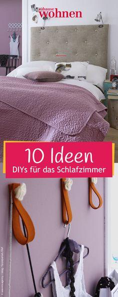 Schlafzimmer DIYs: Designideen zum selber machen. ZuhauseWohnen.de zeigt kostenlos Anleitungen für günstige Möbel und Wohnaccessoires.