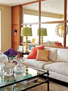 Living room idea for long narrow living space   House Ideas ...