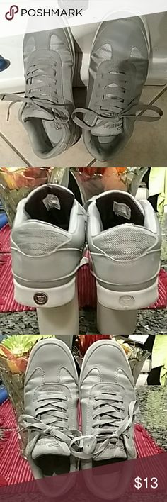 Men sneakers Gray and silver Cadillac Nice and comfortable sneakers to run errands Or take a walk  Can be worn with slacks or with jeans Cadillac  Shoes Sneakers