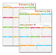 Make it sparkle!: Free Printable: This is the best Grocery List and Menu Planner together, plus keep track of coupons and which nights the kids have games etc