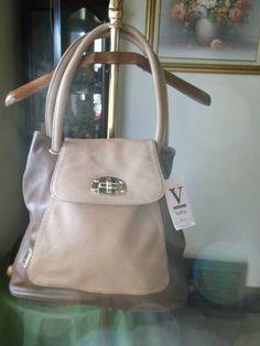 V Couture by Kooba Brown Tan Charlotte Flap Tote Bag | eBay