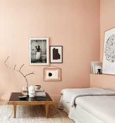 Salmon walls - via cocolapinedesign.com