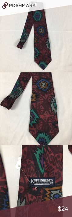 Vintage Retro Burgundy Silk Tie Super cool vintage tie by Kuppenheimer Men's Clothiers. Made in Italy. Pure silk. Great condition Accessories Ties