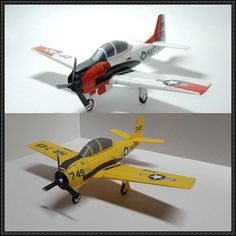 North American Aviation T-28 Trojan Free Aircraft Paper Model Download - http://www.papercraftsquare.com/north-american-aviation-t-28-trojan-free-aircraft-paper-model-download.html