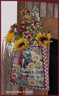 This And That In My Treasure Box: Country Style Hanging Flower Arrangement 2016