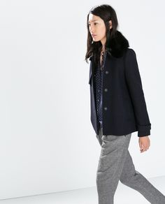 Image 3 of SHORT STRUCTURED COAT from Zara