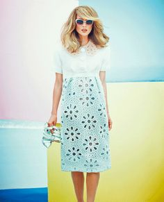 New love for Louis Vuitton. Super chic eyelet