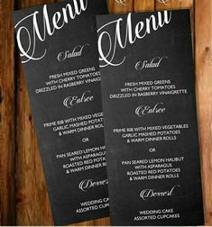 Printable #diy Chalkboard Menu Template