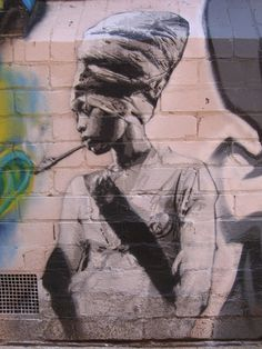 Erykah Badyu Graffiti, Brunswick St. Melbourne Australia........she is from Dallas, Texas