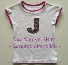 ... mit dem Hang zur Nadel: Cap Sleeve Shirt - Schnitt erstellen