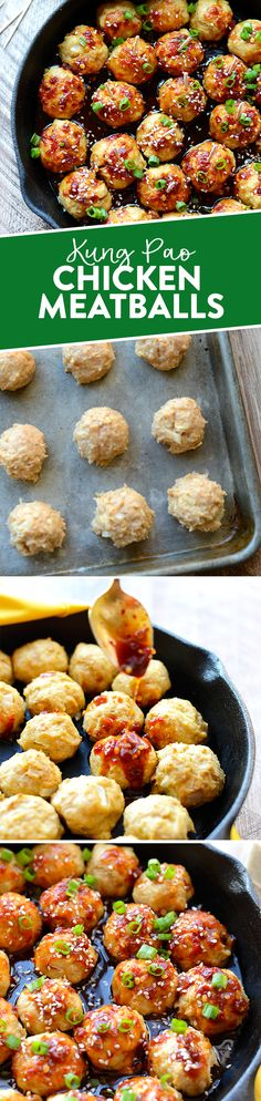 These Kung Pao Chicken meatballs are a perfect healthy appetizer to bring to all your holiday parties!