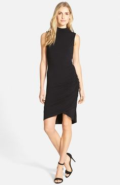 Free shipping and returns on Halogen® Sleeveless Side Ruched Mock Neck Knit Dress (Regular & Petite) at Nordstrom.com. Lavish ruching down one side shapes the sinuous silhouette of a sleeveless stretch-knit dress in two neutral colors sure to go with everything in your wardrobe. A mock neck frames the face and a tulip hem makes a pretty finish.