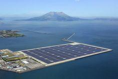 Planta solar Kyocera -JAPóN /  290.000 paneles solares / cerca de 314 Ha, produce 70 Megavatio [MW] genera electricidad suficiente para abastecer a unos 22.000 hogares.