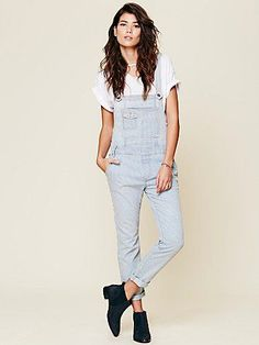 Free People Free People Railroad Printed Overall