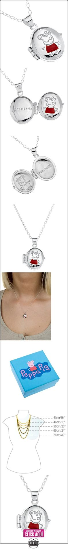 Collier - SP723 - Collar de peppa pig  niño de plata de ley  ✿ Peppa Pig - Peppa La Cerdita ✿ ▬► Ver oferta: http://comprar.io/goto/B0049HAIA2