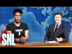 """Last night was Saturday Night Live's season finale, and Leslie Jones appeared on the last """"Weekend Update"""" of the season in a full handmaid's outfit to speak about Alabama's near-total abortion ban, along with similar bans in other states. Snl Saturday Night Live, My Body My Choice, Weekend Update, Laugh Track, Leslie Jones, Alabama News, Political News, White Man"""