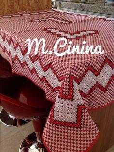 Bordado em tecido xadrez @.cinina