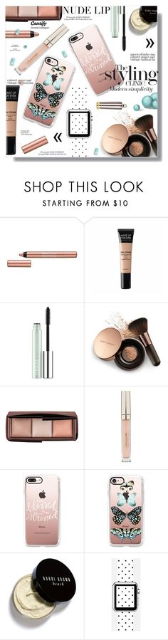 """The Perfect Nude Lip"" by sans-moderation ❤ liked on Polyvore featuring beauty, BeYu, MAKE UP FOR EVER, Clinique, Nude by Nature, Hourglass Cosmetics, Stila, Casetify, Pure & Simple and Bobbi Brown Cosmetics"