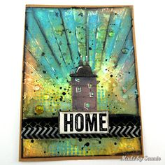Made by Sannie: Home card - #sssmchallenge - It's home sweet home @Simonsaysstamp Monday Challenge