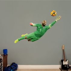 Tim Howard - Diving Save | REAL.BIG. Fathead Wall Decal