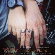 Kral ve Kraliçe Tacı Dövmesi King and Queen Crowns Tattoo Tattoo Brothers Moda Randevu için GSM - Whatsapp: 0532 354 67 26 Parmak Dövmeleri Finger Tattoos