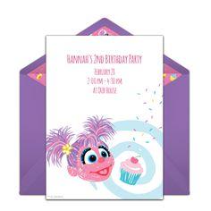 Free Abby Cadabby Cupcake Invitations