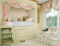 Kids Room Ideas For Girls Sisters Small Spaces.Shared Little Girls Bedroom Love It Because Each Of Them . Decor Ideas For A Kid's Room Real Simple. Lovely Pastelligt Credit: A S T E L_haven Kids Room . Home and Family Alcove Bed, Decor, Storage Kids Room, Small Kids Room, Girls Bedroom, Little Girl Rooms, Girl Room, Room, Bunk Beds Built In