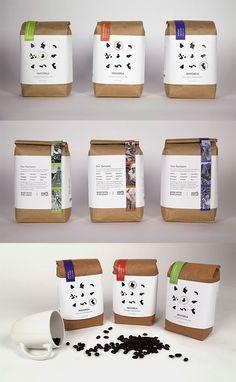 Coffee branding - Showcase of Creative Packaging Designs for Coffee Brands – Coffee branding Rice Packaging, Bakery Packaging, Food Packaging Design, Beverage Packaging, Coffee Packaging, Brand Packaging, Coffee Labels, Coffee Menu, Espresso Coffee