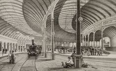 Central station, Newcastle upon Tyne, 1850