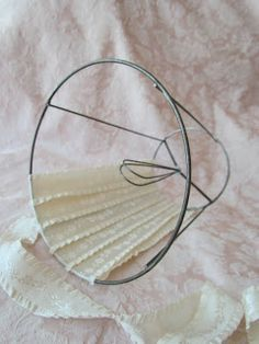 Lavendula loveliness lavender lace lampshades made by hand by today id like to share with you an easy way to cover a small lampshade i had a few lamp frames made out of metal wire and i would like keyboard keysfo Images
