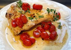 Lemon Chicken with Garlic and Tomatoes (21 day fix approved)