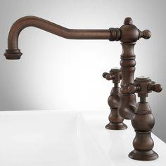 Rumford Bridge Kitchen Faucet - Cross Handles