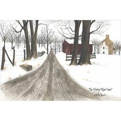 Wintery Road Home - too similar to winter painting already have from Billy Jacobs? Autumn Art, Winter Art, Billy Jacobs Prints, Country Art, Country Decor, Country Living, Country Roads, Farm Art, Winter Painting