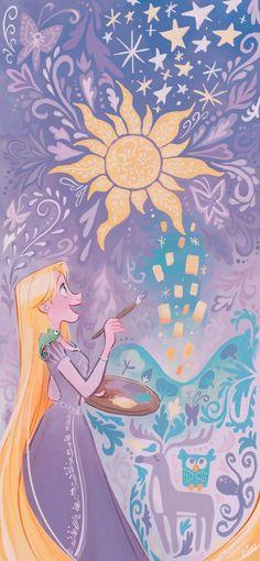 Disney Rapunzel, Tangled Rapunzel, Arte Disney, Disney Fan Art, Disney Love, Disney Pixar, Cartoon Wallpaper, Wallpaper Iphone Disney, Cute Disney Wallpaper