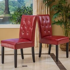 Aeon Paris2 Dining Chair  Set Of 2  Chairs Paris And Of Fair Dining Room Chairs Red Decorating Design