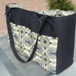 Tutorial for a really cute diaper bag. Pretty much just a messenger bag with more pockets.