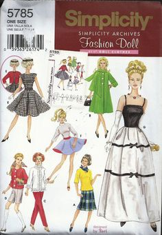 Simplicity  Doll  Patterns 5785 4719 4702 UNCUT by SewReallyCute, $15.00
