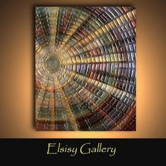 40x30 Heavily textured metallic modern abstract painting made to order ready to hang by Elsisy