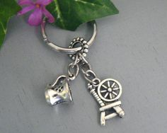 Rumbelle Once Upon A Time KeyChain Rumplestilskin and Belle Key Chain ABC Tv Show Inspired key Ring
