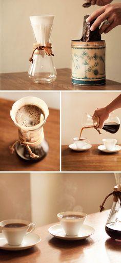 Slow Drip Coffee- Chemex musla