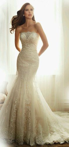 Fish tail style wedding  dress