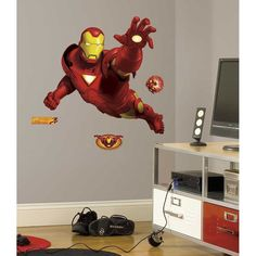 Roommates IronMan Peel & Stick Giant Wall Decal