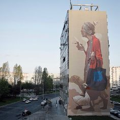 "Ahhh yes @sainer_etam final solo piece titled ""crossroads"" for @underdogs10 in Olaias / Lisbon photo via Sainer !! #urbanart #urbannation #lisbon #publicart #graffiti #underdogs #gallery  #wallpoetry #community #portugal #berlin #onewall"
