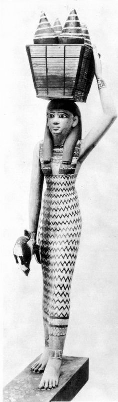 Porteuse d'offrandes 1 XI°dynastie - Clothing in ancient Egypt - Wikipedia, the free encyclopedia