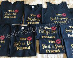 Girls Friend Trip Tee T-shirt Clique Matching Birthday Birthday Group Shirts, Disney Birthday Shirt, Happy Birthday Girls, Bday Girl, 25 Birthday, Hotel Birthday Parties, Hotel Party, Wedding Parties, Party Shirts