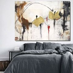 Buy Large contemporary art, modern art, abstract artwork, original art, minimalist art, canvas art, gold, beige, black and white, brown, red, Acrylic painting by Poonam choudhary on Artfinder. Discover thousands of other original paintings, prints, sculptures and photography from independent artists.